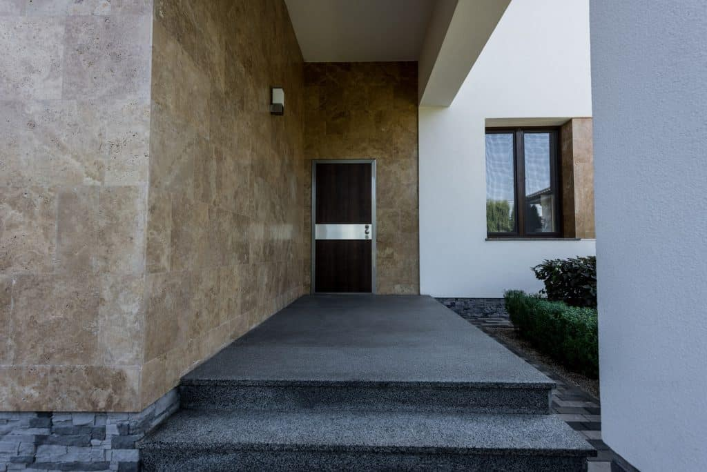 entrance door to new contemporary house
